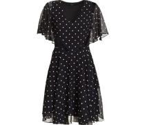 Kleid, Polkadots, V-Ausschnitt,