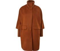 Mantel, Eingrifftaschen, Stehkragen, uni,