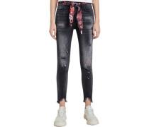 """Jeans """"Bow"""", starker Used-Look, Gürtel,"""