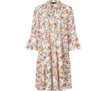 Kleid, floral, 3/4-Arm,