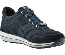 Sneaker, Rauleder, Plateau,