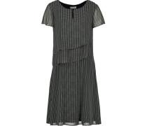 Kleid, Split-Neck, Printagenlook,