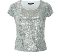 T-Shirt, Pailetten, Rundhals,