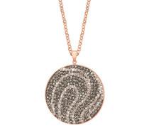 Lange Halskette mit Kristallen und rosévergoldet
