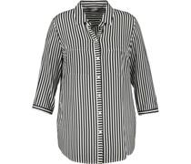 Bluse, 3/4-Arm, Streifen, Brusttaschen,