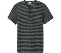 Helmut T-Shirt, Henley-Ausschnitt, Streifen,