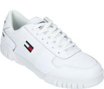 Sneaker, unifarben, klobige Laufsohle,