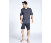 Schlafanzug, kurz, Relax Streamline, Elastikbund,