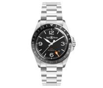 """Herrenuhr """"GMT"""" BRV293-BL-ST/SST, 10 bar, Datumsanzeige"""