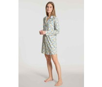 "Nachthemd ""Cosy Nightsangarm, floraler Print, Reverskragen,"