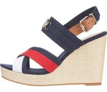Essential Keilabsatz Sandaletten, Baumwolle,