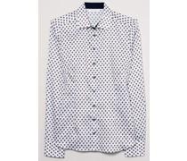 Modern Classic Bluse, Blusenkragenangarm, gemustert,