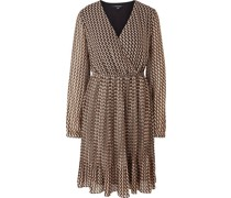Kleid, Kurz, Allover-Print, Wickel-Ausschnitt,