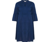 Kleid, 3/4 Arm, uni, Regular Fit,