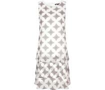 Chiffon-Kleid, Allover-Muster-Print, ärmellos,