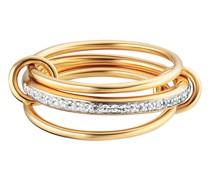 Ring c925/- Sterling Silber vergoldet Topas