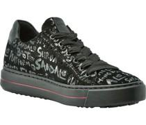 Sneaker, Rauleder, Graffiti-Muster,