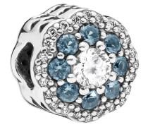 """Charm Blue Sparkle Flower """"797851NMB"""", 925er"""