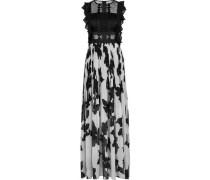 Abendkleid, Häkelspitze, transparente Details, Plissée-Rock,