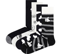 "Socken""Black And White"", 4er-Pack, Geschenk-Set"