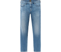 Jeans, 1/1, Straight Leg, Regular Waist, 5-Pocket, Waschung,