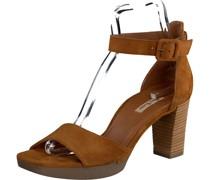 High Heel-Sandaletten, Trichterabsatz, Velours,