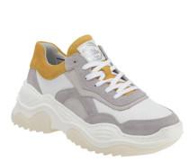Sneakereder, Plateau-Sohle, Schnürung