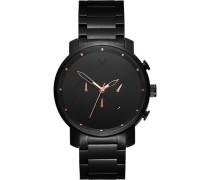"Armbanduhr ""Black Rose"" MC01-BBRG, Chronograph"