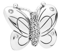 "Fixed Clip Charm ""Butterfly"" 797880CZ, 925 Sterling"