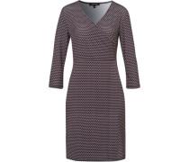 Kleid, kurz, Jerseyinimal-Print, Wickeloptik,