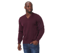 Pullover, V-Ausschnitt, Feinstrick,