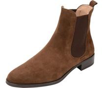 Chelsea Boots, Veloursleder,