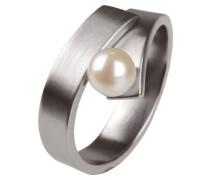 Ring, Edelstahl, Süßwasserperle ø 6mm R123