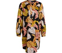 Kleid, All-Over Muster, Knopfleiste,