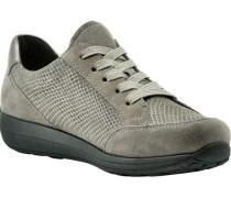 Sneaker, Rauleder, Plateau, Schlangen-Print,
