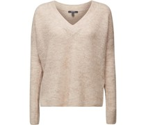 Pullover, Strick, V-Ausschnitt, Wollanteil,