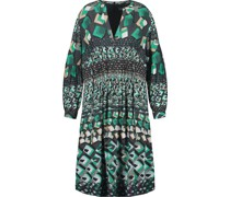 Kleid, Allover-Dessin,