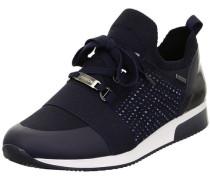 Lissabon Sneaker, Strass, Stricklook,