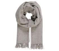 Schal, reine Wolle, Stick-Borte, Fransen