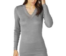 "Wäsche-Shirt ""Silk Touch Wool"", langarm, Spitze"