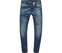 Jeanshose, 5-Pocket-Stil, eng anliegendes Bein, Baumwoll-Mix, Stretchkomfort,