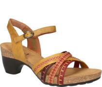 Leder-Sandaletten, Ziernähte,