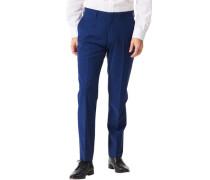 Hose, Anzug-Baukasten-Artikel, Slim Fit, uni,