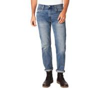 Jeans, Regular Fit, Baumwoll-Mix, Stretch, Waschung, Patch,