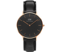 Classic Black Armbanduhr Sheffield, Rose Gold 36 mm DW00100139