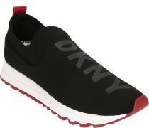 Sneakerogo auf Vorderblatt, Zugschlaufe in Kontrast-Farbe, Profilsohle,