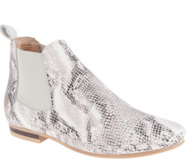 Chelsea Boots, Reptil-Look, schimmernd, Elastik-Einsatz, Zugschlaufe, edel,