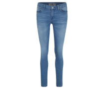 "Jeans ""Nicole"", Slim Fit, unifarben, Waschung,"