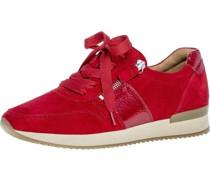 Sneaker, low, Rauleder, Reißverschlussackdetails, uni,