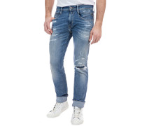 "Jeans, ""Anbass"", Slim Fit, Destroyed-Look, Waschung,"